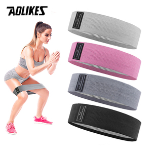 AOLIKES Durable Hip Circle Band Yoga Anti-slip Gym Fitness Rubber Band Exercise Braided Elastic Band Hip Lifting Resistance Band