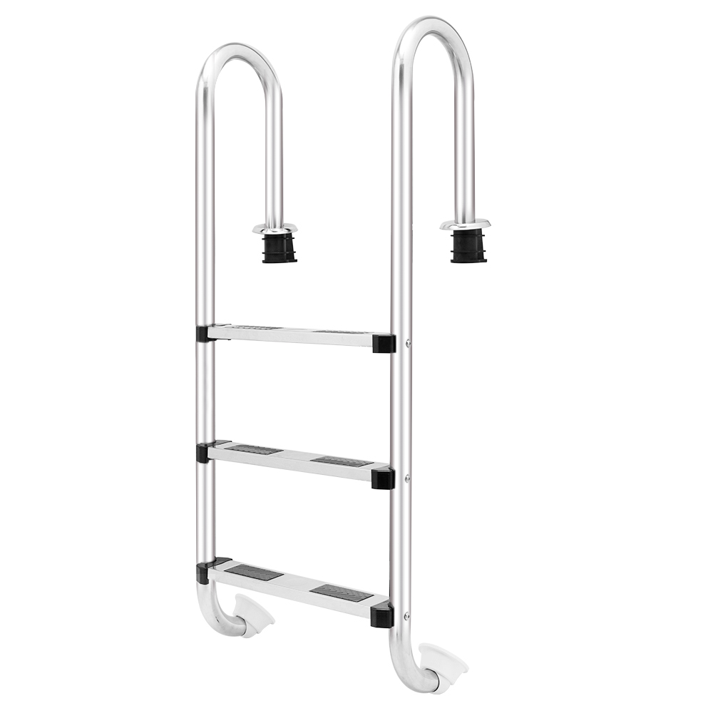 U05 3-Step Swimming Pool Ladder Stainless Material Novel Style Reasonable Structure In-ground Pool Ladder Swimming Pool Supplies