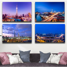 New York City Brooklyn Bridge Manhattan City Night View Canvas Painting Posters Prints Scandinavian Wall Art for Living Room(China)