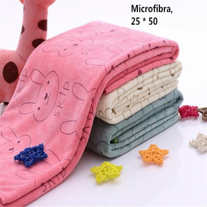 Super Cute Microfiber Absorbent Drying Bath Shower Beach Towel Washcloth Swimwear Baby Towel