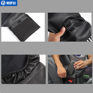 Image 2 - MOPAI Stowing Tidying for Jeep Wrangler JL 2018+ Leather Car Armrest Storage Box Pad Cover Accessories for Jeep Wrangler JL 2019