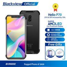Blackview BV9600E nowy wodoodporny telefon komórkowy Helio P70 Android 9 0 4GB RAM 128GB ROM 6 21 #8222 AMOLED 5580mAh wytrzymały smartfon tanie tanio Nie odpinany Rozpoznawania linii papilarnych Rozpoznawania twarzy Inne 16MP Adaptacyjne szybkie ładowanie Smartfony Pojemnościowy ekran