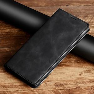 Magnetic Leather Flip Phone Ca