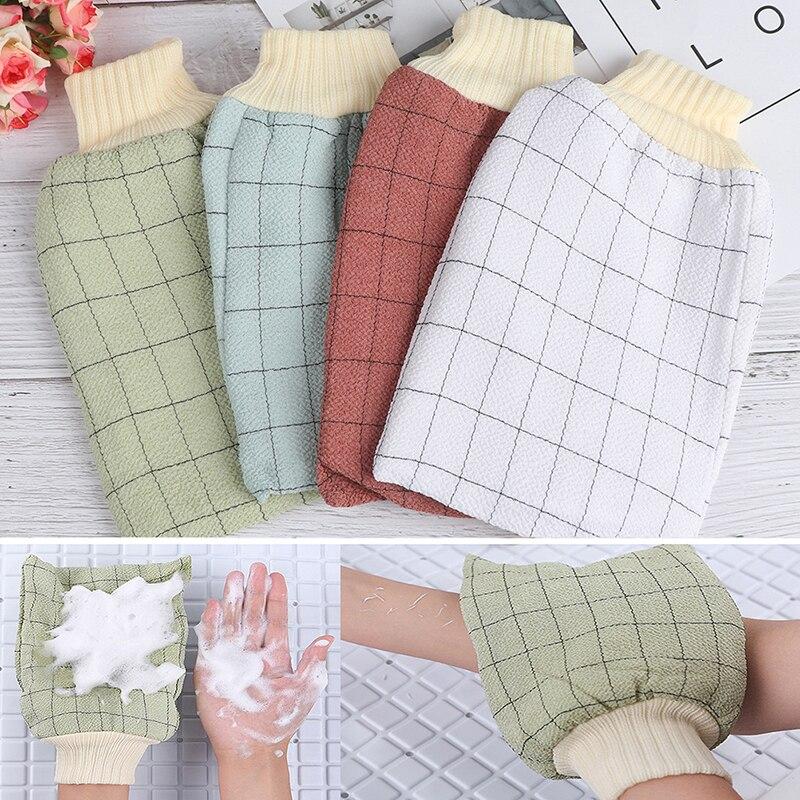 New Sponge Wash Bath Gloves Tape Back Brush Scrub Gloves Exfoliating Body Towel Massage Shower Scrubber Exfoliating