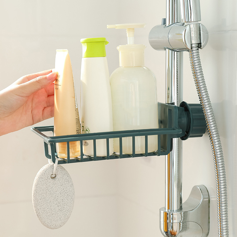 Sundries Hanging Holder Basket Kitchen Organizer Faucet Drain Storage Plastic Rack Container Sink Sponge Soap Rag Hanger Shelf