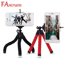 FANGTUOSI Mini Flexible Sponge Octopus Tripod For IPhone xiaomi bendable Mobile Phone Smartphone Tripod For Gopro 8 7 Camera