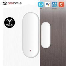 Tuya Smart WiFi Door Window Sensor Magnetic Contact  APP Control Work With Amazon Alexa