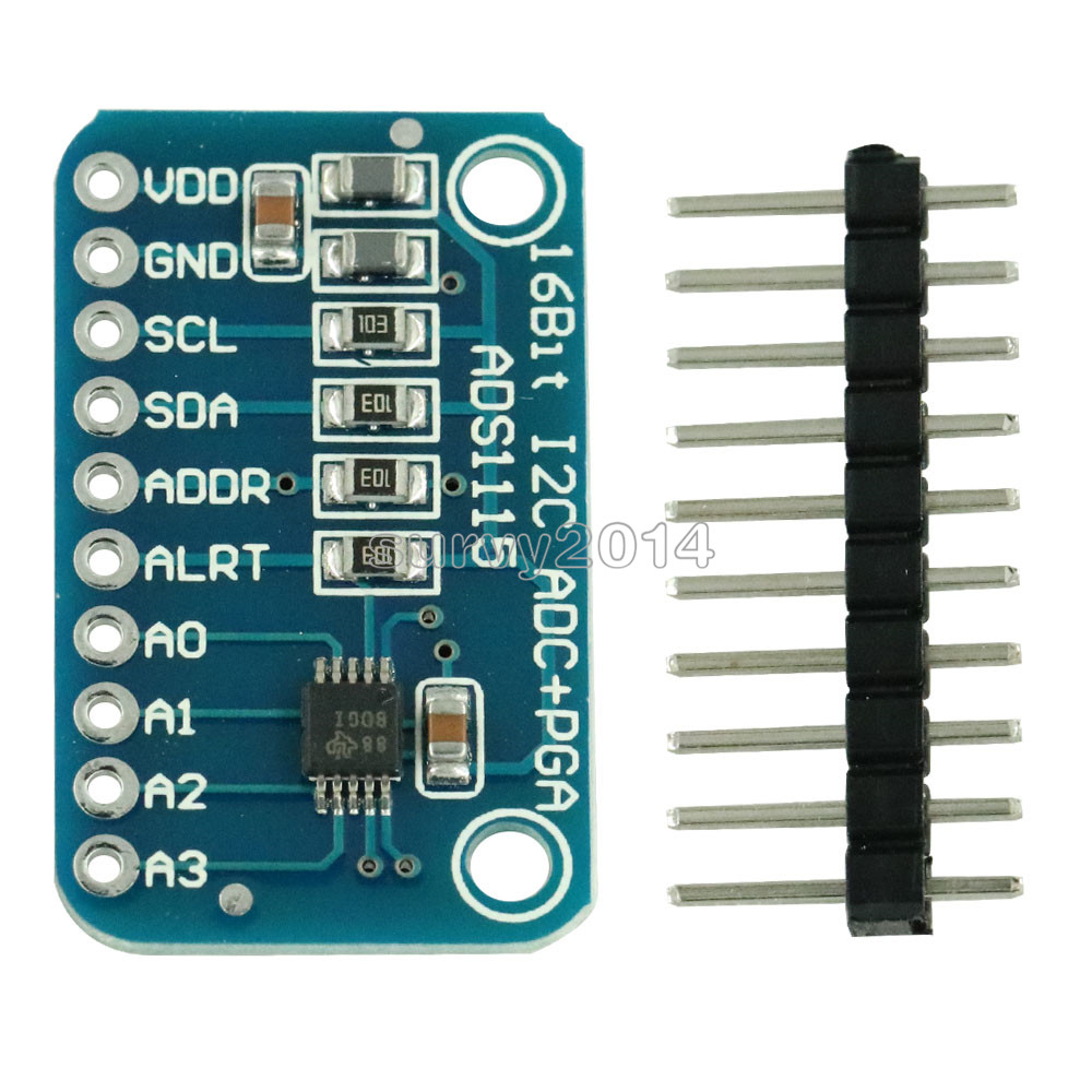16 Bit I2C ADS1115 Module ADC 4 Channel With Pro Gain Amplifier For Arduino RPi 1PCS