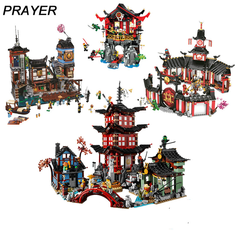 Ninja Monastery Of Spinjtzu Temple DIY Building Block Sets 70670  Educational Toys For Children Compatible Lepining Ninjagoes