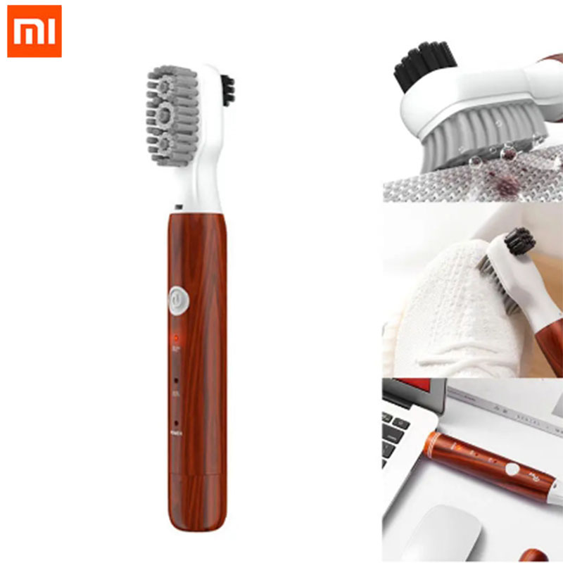 Xiaomi MiJia PULIN Sonic Vibration Electric Shoes Brush IPX7 Waterproof USB Rechargeable Double Bristles Cleaning Brush|Smart Remote Control| - AliExpress