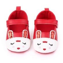 Newborn Baby PU Leather Shoes Girl Cartoon Soft Soled Non-slip Footwear Crib