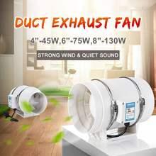 4 pouces maison silencieux ventilateur d'échappement conduit ventilateur forte Ventilation ventilateur extracteur ventilateur cuisine Air propre ventilateurs salle de bain ventilateur ventilateur