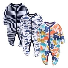 Зимняя мягкая и удобная одежда для малышей, хлопок, черная полоска, детская одежда для сна, ползунки, одежда для малышей