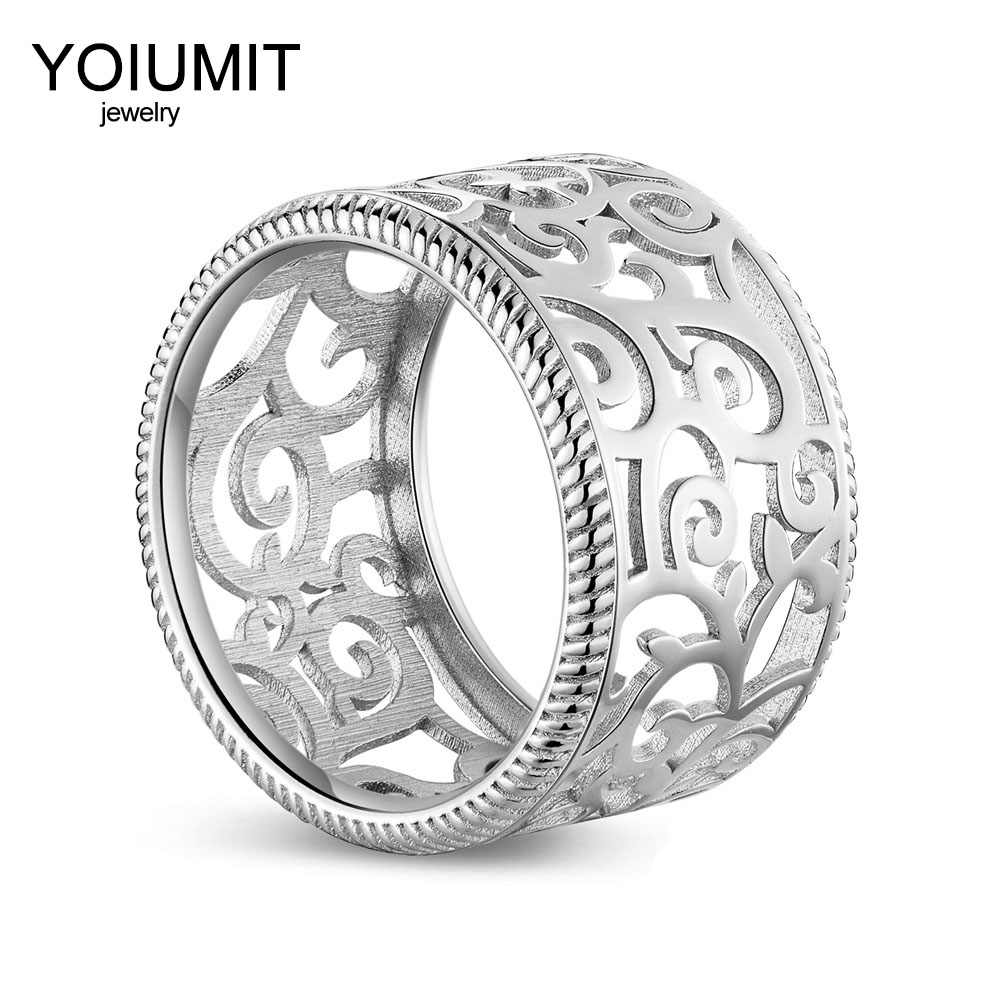 Yoiumit Fashion rings Hollowing Rings For Woman Jewelry Cremo Closed Sided Interchangebale Leather Bijoux Bague