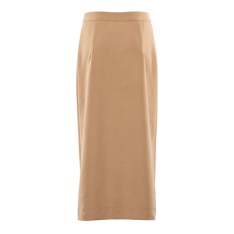 Elegant High Waist Front Split Midi Skirt 11