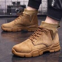 2019 Fashion Men Shoes New Arrival Plush Insole Snow Botas Classic Winter Boots Suede Ankle Warm *5053
