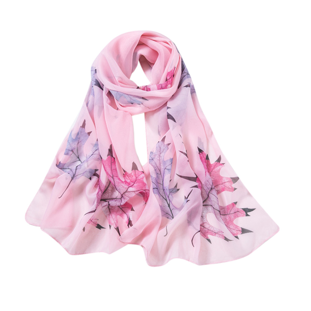 Sleeper #P501 2019 NEW FASHION Women Maple Leaf Printing Long Soft Wrap Scarf Ladies Shawl Winter Scarves Schal Elegant Cachecol