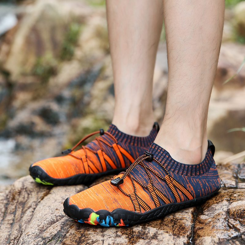 Mens Five Finger Shoes Barefoot Outdoor Sneakers Men Upstream Aqua Shoes Summer Water Shoes Man Quick Dry River Sea Shoes 39-47