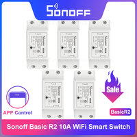 Itead Sonoff Basic R2 Smart Wifi Switch Relay Wireless Control Interruptor Wifi Light Switch Smart Home Remote Work with Alexa