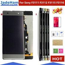 شاشة LCD أصلية 5.0 بوصة لسوني اريكسون XA F3111 F3113 F3115 شاشة LCD مع شاشة تعمل باللمس محول الأرقام الجمعية LCD مع الإطار