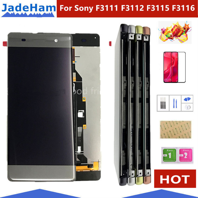 Original 5.0  LCD For Sony Xperia XA F3111 F3113 F3115 LCD Display with touch Screen display Digitizer Assembly LCD with frame