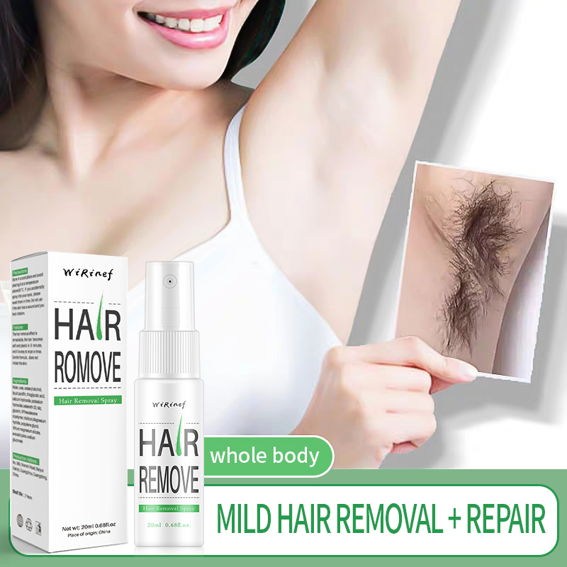 Powerful Permanent Painless Hair Removal Spray Hair Stop Growth Inhibition Shrink Pores Skin Smooth Repair Essence Dropshipping