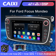2 Din Radio Android 9.0 2 Gb Ram Auto Multimedia Video Player Navigatie Gps Dvd 2 Din Voor Ford Focus S Max Mondeo 9 Galaxy C Max