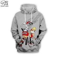 Men Cartoon anime Spanking bugs Bunny 3d hoodies Sweatshirt zipper looney tunes print women casual Pullover couples streetwear