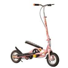 Складной Педальный скутер для подростков, 10 дюймовый надувной колесный скутер из алюминиевого сплава с нагрузкой 90 кг, скутер для фитнеса