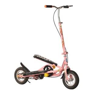 Image 1 - O trotinette dobrável do pedal para adolescentes, o trotinette inflável da roda da liga de alumínio 10 Polegada pode carregar 90kg, scooter do exercício da aptidão