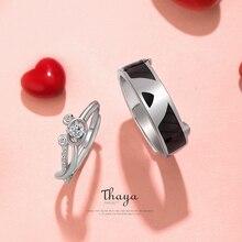 Thaya S925 Стерлинговое серебро Кристалл Прекрасный медведь кольца Оригинальный дизайн для женщин элегантные кольца хорошее ювелирное изделие подарок