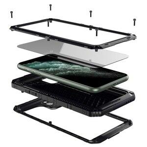 Image 1 - Funda de teléfono resistente al agua IP68 de aluminio y Metal de lujo, a prueba de golpes, para iPhone SE 2 11 Pro Max XR 6X6S 7 8 Plus XS Max