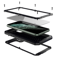 Luxe Metalen Aluminium IP68 Waterdichte Telefoon Case Voor Iphone Se 2 11 Pro Max Xr X 6 6S 7 8 Plus Xs Max Schokbestendig Stofdicht Cover