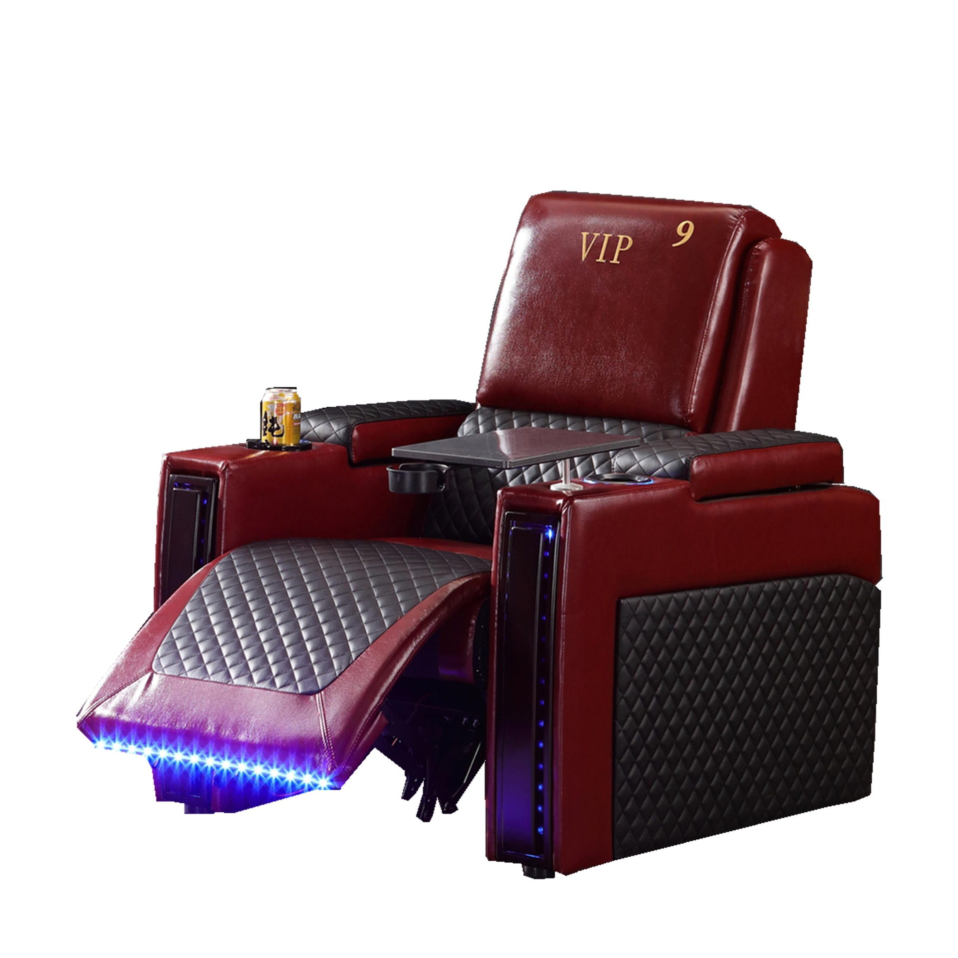 2019 leather sofa chair with led light image