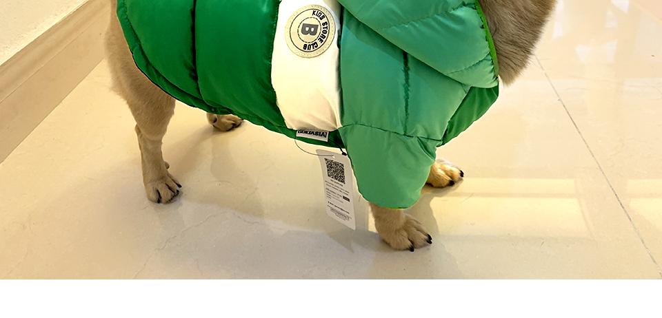 Nueva ropa de invierno para perros, abrigo impermeable con capucha 18