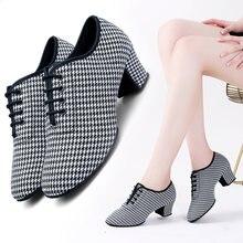 Туфли женские для латиноамериканских танцев на каблуке 5 см