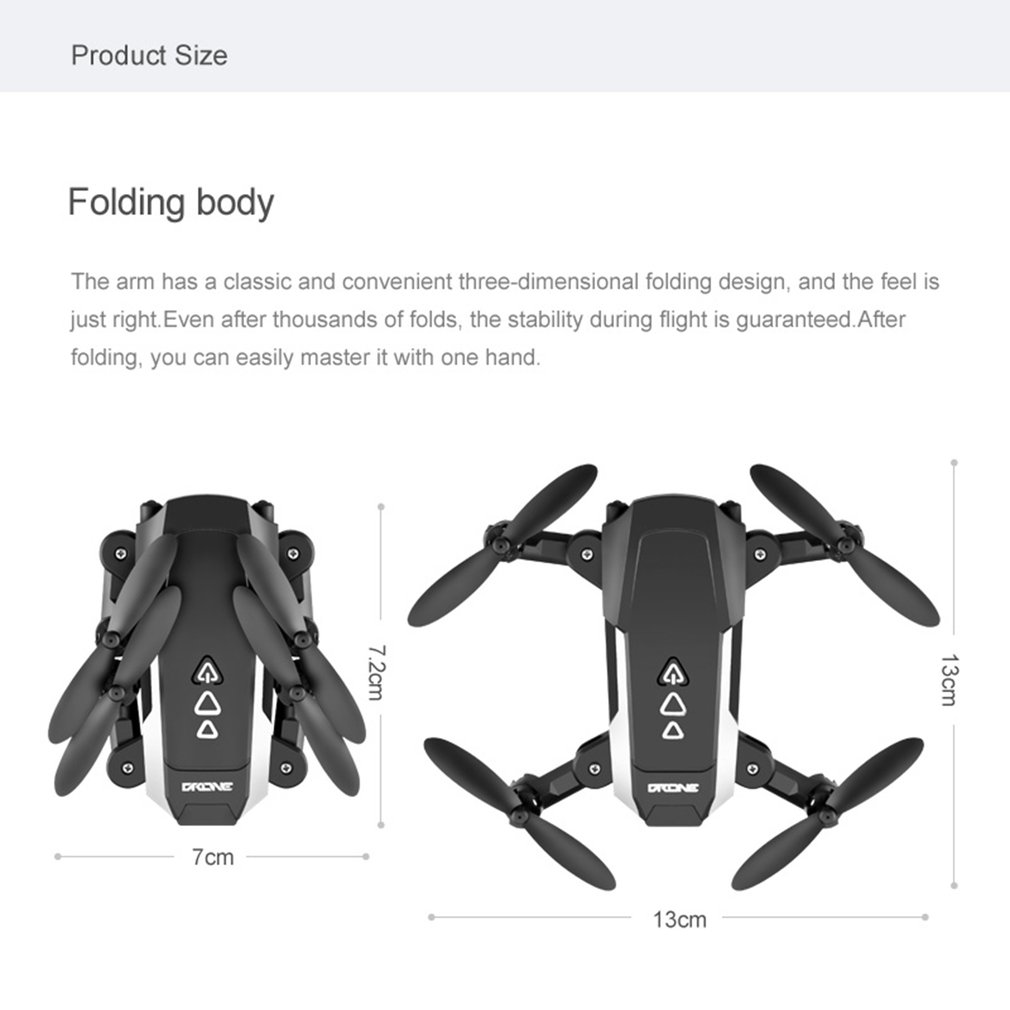 KK8 Foldable Mini Drone RC FPV Aircraft 1080P HD Camera Wifi FPV Drone Selfie RC Helicopter Gift for Kids Boys Girls
