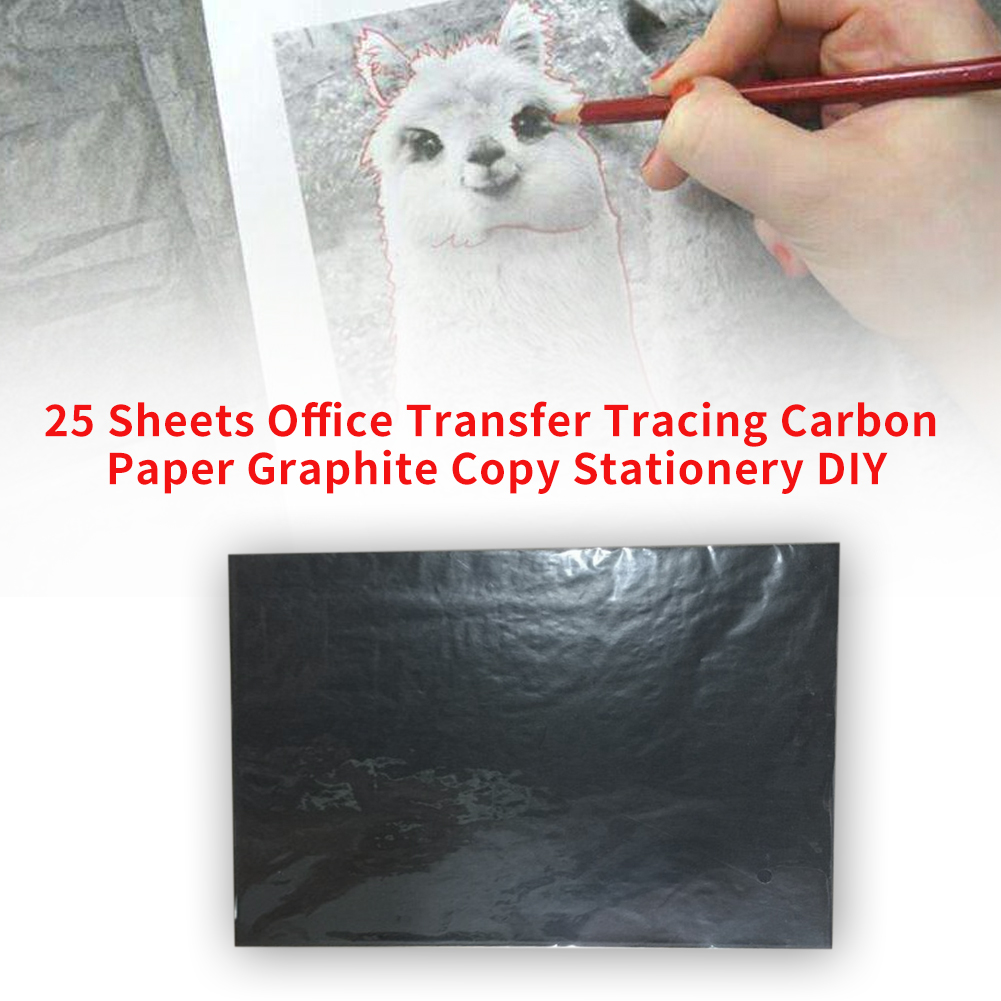25 Sheets Copy DIY Stationery School Legible Transfer Tracing Art Craft Reusable Graphite Wood Burning Office Carbon Paper