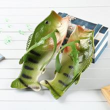 2020 letnie buty Runway ryby klapki japonki Unisex kapcie plażowe mężczyźni slajdy lekkie męskie śmieszne kapcie tanie tanio Lorilury Poza Niska (1 cm-3 cm) Pasuje prawda na wymiar weź swój normalny rozmiar light Lato Animal prints Dla dorosłych