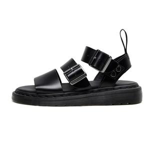 Image 3 - Designer sandals  Gladiator Gryphon Strap Martins Leather women's sandals Summer 2020 Womens Sandals Flat Women Shoes
