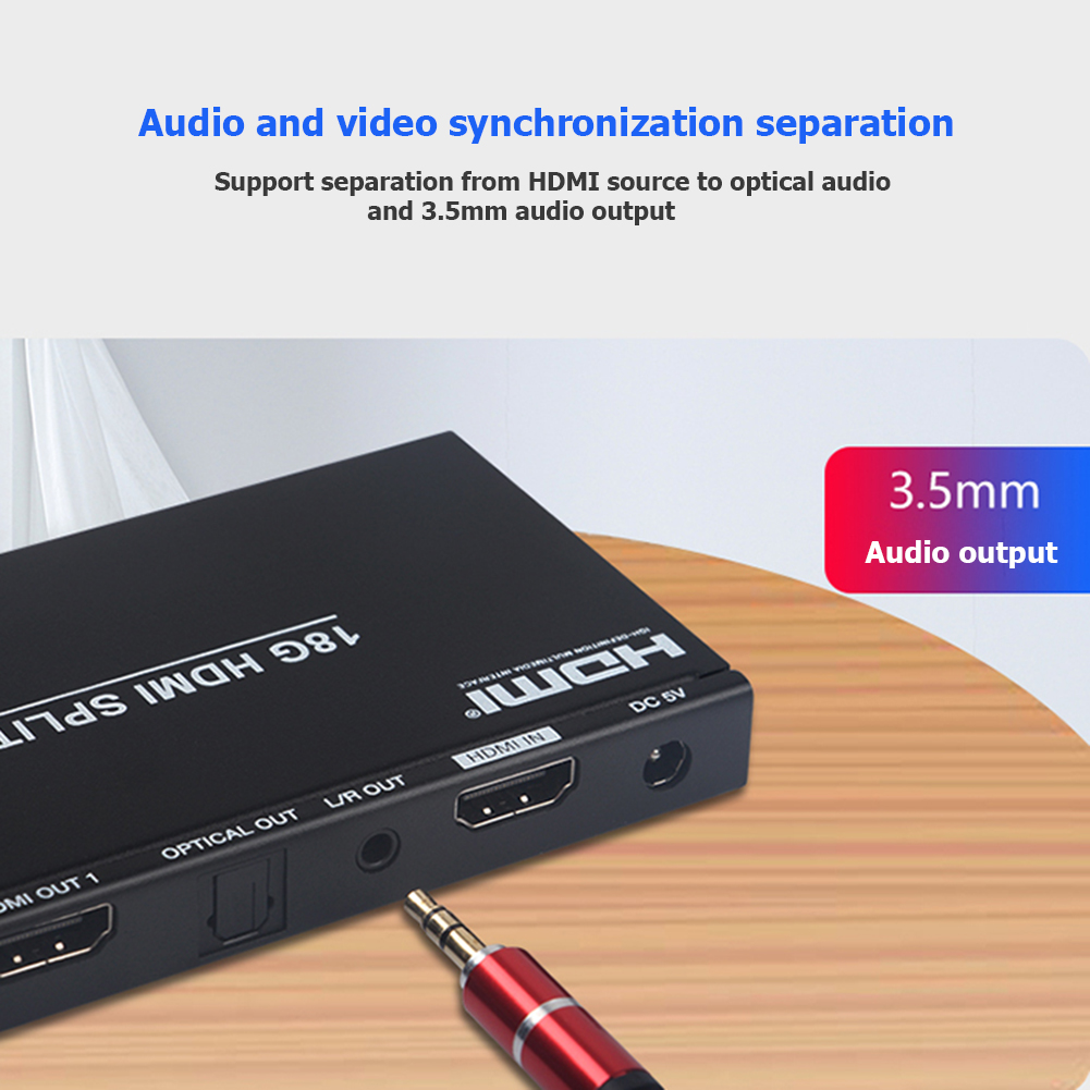 4K HDMI Switcher Sufficient Enduring Ruggedness 1 In 2 Out Splitter Dual Display Amplifier Adapter For DVD HDTV