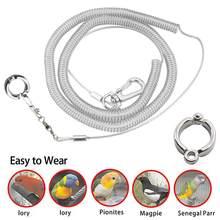 3M Flexível Pássaro Papagaio Pássaro Arreios Leash com Anel Perna Ultra-leve Anti-mordida Corda Treinamento de Vôo Ao Ar Livre para Periquito Arara