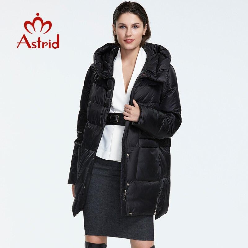 Kadın Giyim'ten Parkalar'de Astrid2019 kış yeni varış şişme ceket kadınlar gevşek giyim giyim yüksek kalite kısa stil kadın ceket ile hood AR 8960'da  Grup 2