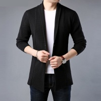 men sweater spring autumn Cardigan solid color men's clothing Knitted sweaters 718