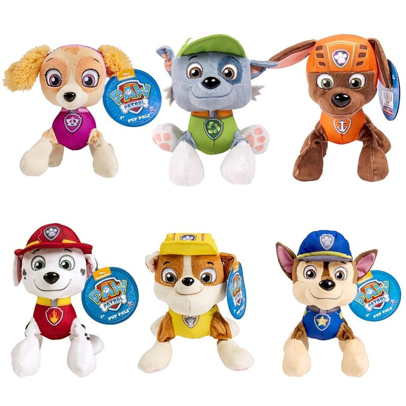 Paw Patrol Anime Plush Kawaii Kids Toy Plush Doll Children's Birthday Gift Paw Patrol Captain Soft Toy For Boys Christmas Gift