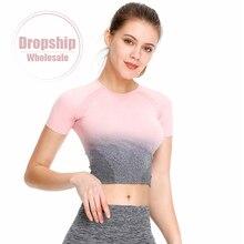 Бесшовные Для женщин спортивная рубашка тренажерный зал, фитнес, йога топ, жилет тренировки с длинным рукавом футболки Топ для бега спортивная одежда