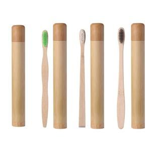 1 шт. мягкая Экологически чистая зубная щетка из натурального бамбука + 1 шт. чехол с бамбуковой трубкой для ухода за полостью рта чистящие ин...