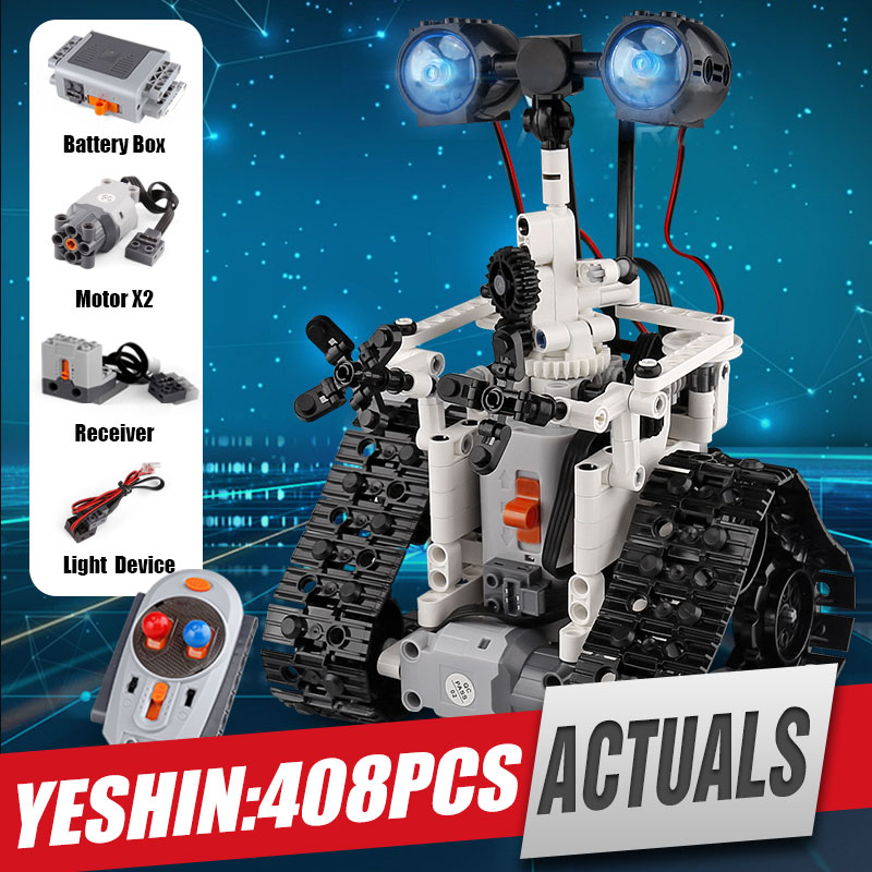 Yeshin 16003 Technic Remote Control RC Robot Electric designer Building Blocks Brick Compatible with Engineering Kids