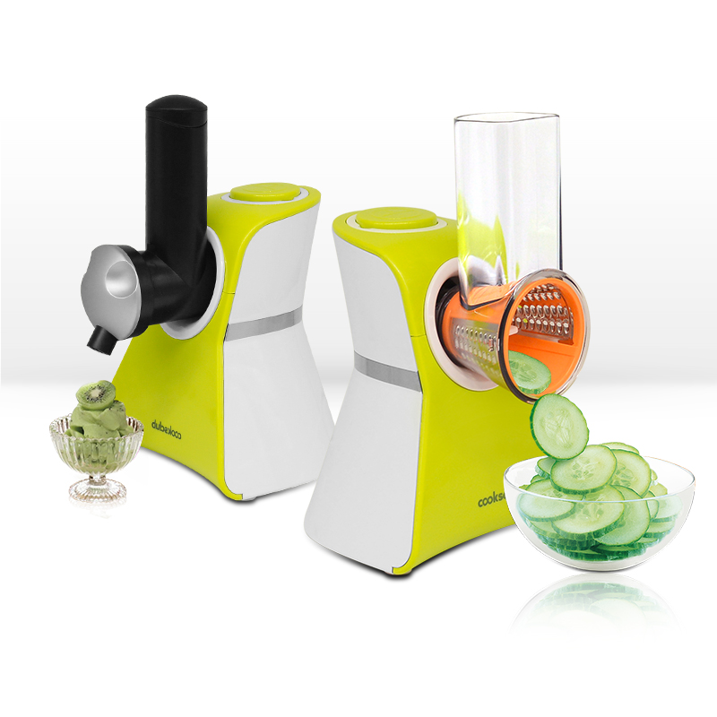 Fruit and Vegetable Salad Cutter Ice Cream Maker for Home Sorveteira Electric Grater Diced DIY Soft Makers Machine 2 in 1 VC02S