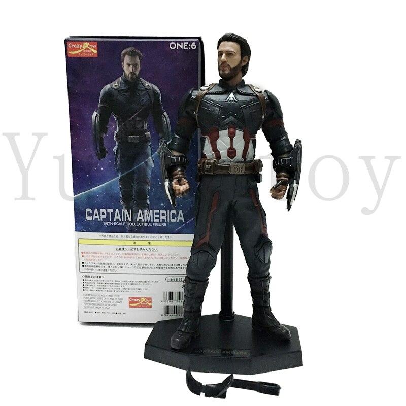 11 pouces jouet fou Marvel Avengers capitaine Statue américaine figurine modèle jouet poupée cadeau